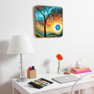 DENY Designs Aqua Burn by MadArt Plaque Inc Framed Graphic Art Plaque
