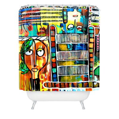 DENY Designs Robin Faye Gates Polyester Musical Chairs Shower Curtain