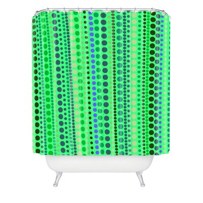 Romi Vega Polyester Retro Shower Curtain