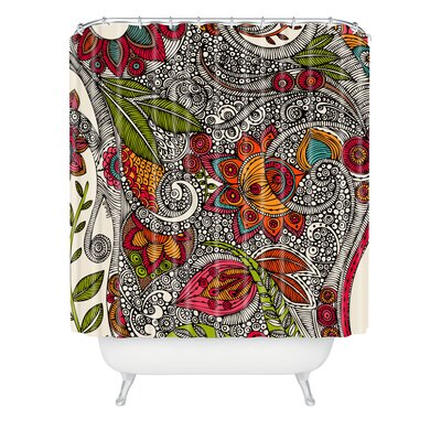 Valentina Ramos Polyester Random Flowers Shower Curtain