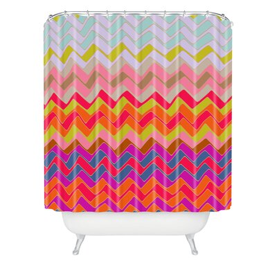 DENY Designs Sharon Turner Geo Chevron Woven Polyester Shower Curtain