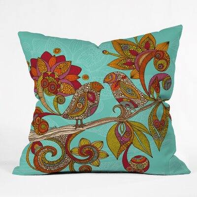 DENY Designs Valentina Ramos Hello Birds Polyester Throw Pillow
