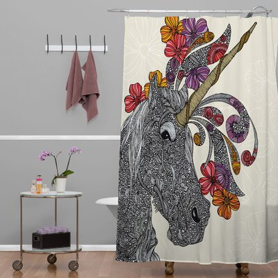 DENY Designs Valentina Ramos Polyester Unicornucopia Shower Curtain