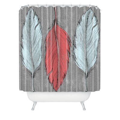 DENY Designs Wesley Bird Polyester Feathered Shower Curtain