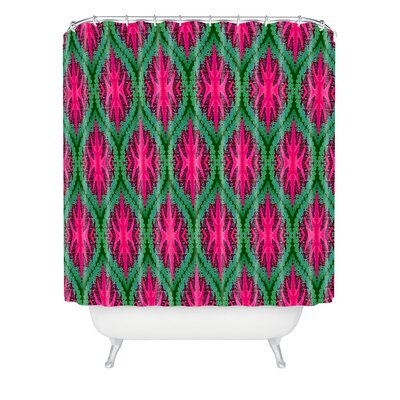 DENY Designs Wagner Campelo Polyester Ikat Leaves Shower Curtain