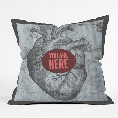 DENY Designs Wesley Bird You Are Here Indoor/Outdoor Polyester Throw Pillow