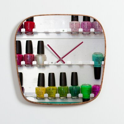 DENY Designs Bird Wanna Whistle Nail Polish Wall Clock