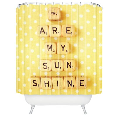 DENY Designs Happee Monkee You Are My Sunshine Polyesterrr Shower Curtain