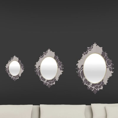 DENY Designs Caroline Okun Winter Peony Baroque Mirror