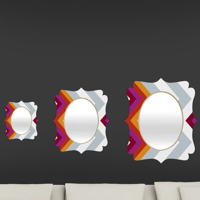 DENY Designs Karen Harris Modernity Solstice Warm Chevron Quatrefoil Mirror