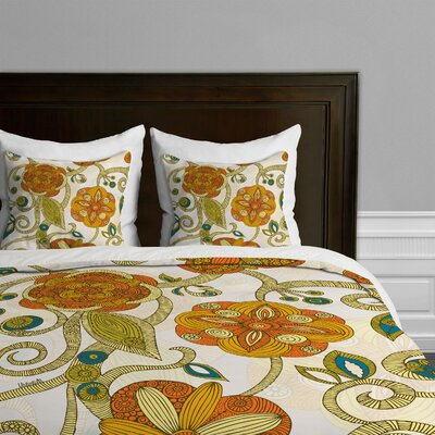 DENY Designs Valentina Ramos Flowers Microfiber Duvet Cover