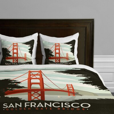 DENY Designs Anderson Design Group San Francisco Microfiber Duvet Cover