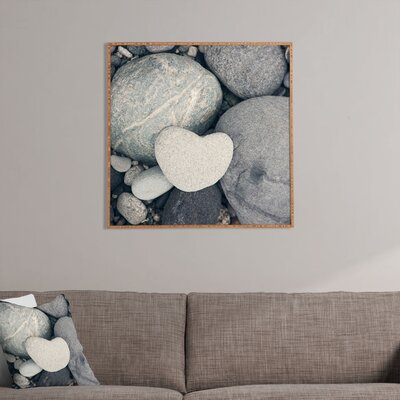DENY Designs My HeArt Plaque Shaped Rock by Catherine McDonald Framed Photographic Print Plaque