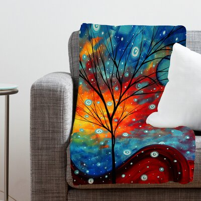 DENY Designs Madart Inc. Summer Snow Polyester Fleece Throw Blanket