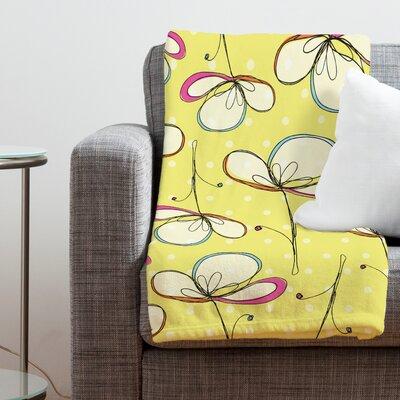 DENY Designs Rachael Taylor Floral Umbrellas Polyester Fleece  Throw Blanket