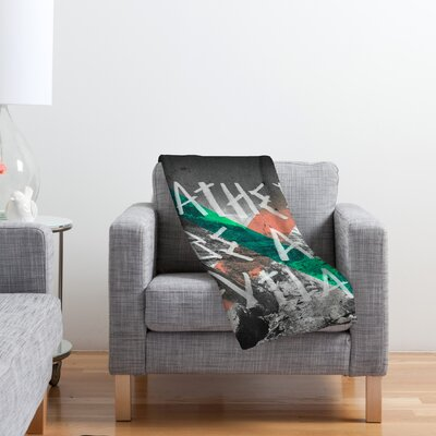 DENY Designs Wesley Bird Rather Be An Outlaw Polyester Fleece Throw Blanket