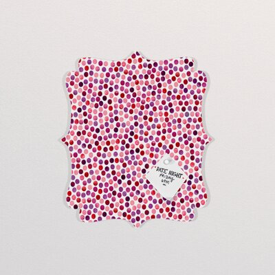 DENY Designs Garima Dhawan Watercolor Dots Berry Quatrefoil Magnet Board