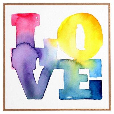 DENY Designs Love 4 by CMYKaren Textual Art on Canvas