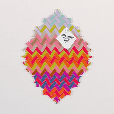 DENY Designs Sharon Turner Geo Chevron Baroque Bulletin Board