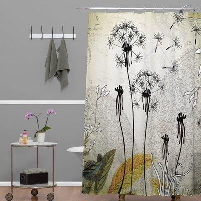DENY Designs Iveta Abolina Polyester Little Dandelion Shower Curtain