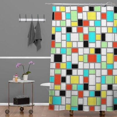 DENY Designs Jacqueline Maldonado Woven Polyester Geo Square Shower Curtain