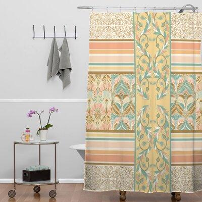 DENY Designs Jacqueline Maldonado Woven Polyester Vintage Stripe Shower Curtain