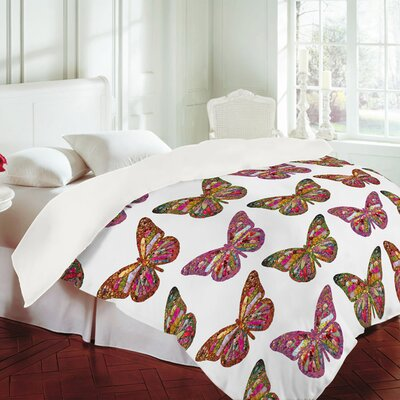 DENY Designs Bianca Green Butterflies Fly Duvet Cover Collection