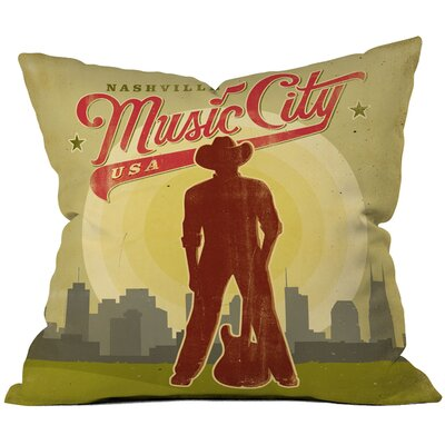 Anderson Design Group Music City Woven Polyester Throw Pillow