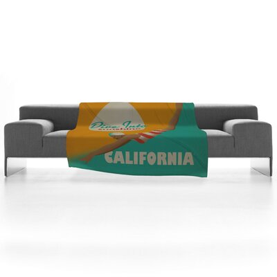 DENY Designs Anderson Design Group Dive California Fleece Throw Blanket