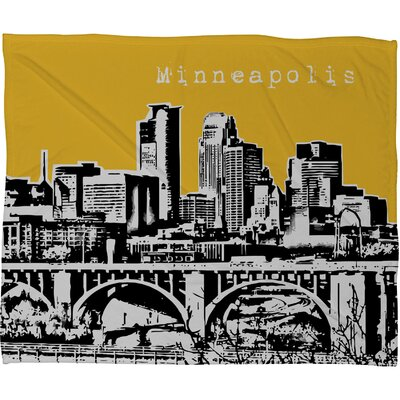 DENY Designs Bird Ave Minneapolis Fleece Throw Blanket