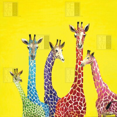 DENY Designs Clara Nilles Woven Polyester Jellybean Giraffes Shower Curtain