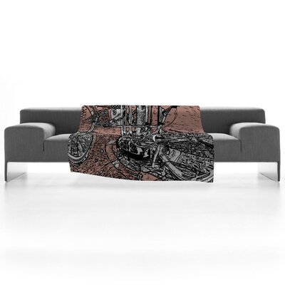 DENY Designs Romi Vega Bike Fleece Throw Blanket