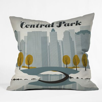 Anderson Design Group Central Park Snow Woven Polyester Throw Pillow