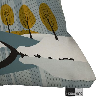 DENY Designs Anderson Design Group Central Park Snow Indoor/Outdoor Polyester Throw Pillow