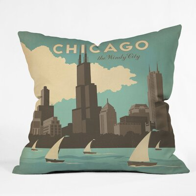 DENY Designs Anderson Design Group Chicago Indoor/Outdoor Polyester Throw Pillow