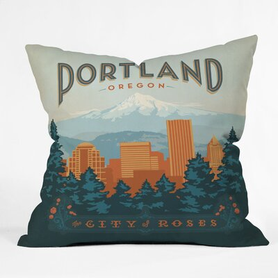 DENY Designs Anderson Design Group Portland Indoor/Outdoor Polyester Throw Pillow