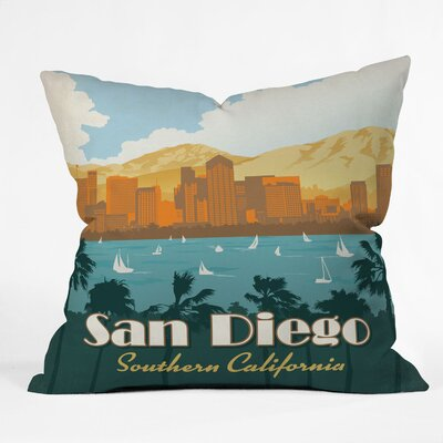 DENY Designs Anderson Design Group San Diego Indoor/Outdoor Polyester Throw Pillow