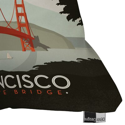 DENY Designs Anderson Design Group San Francisco Indoor/Outdoor Polyester Throw Pillow