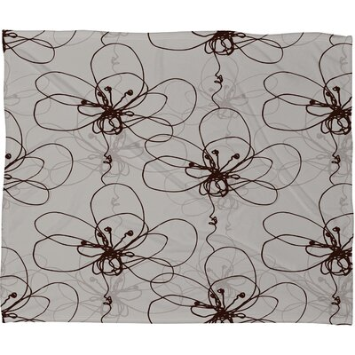 DENY Designs Rachael Taylor Tonal Floral Polyester Fleece Throw Blanket
