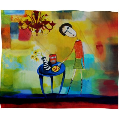 DENY Designs Robin Faye Gates Cheeze It Thank You Fleece Throw Blanket