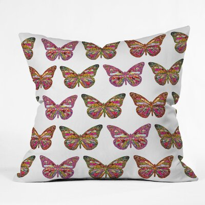 DENY Designs Bianca Green Butterflies Fly Indoor/Outdoor Polyester Throw Pillow