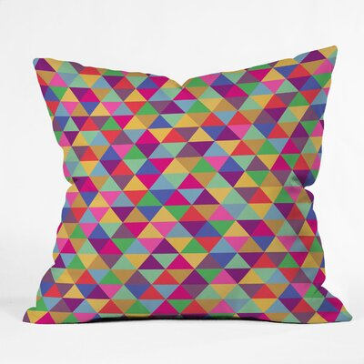 DENY Designs Bianca Green Triangles Woven Polyester Throw Pillow