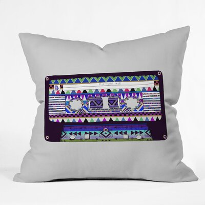 DENY Designs Bianca Green Mix Tape No 10 Woven Polyester Throw Pillow