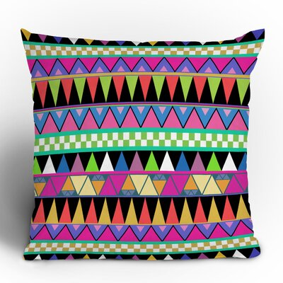 DENY Designs Bianca Green Zigzag Woven Polyester Throw Pillow