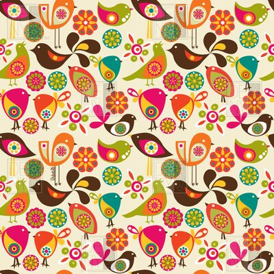 DENY Designs Valentina Ramos Polyester Little Birds Shower Curtain