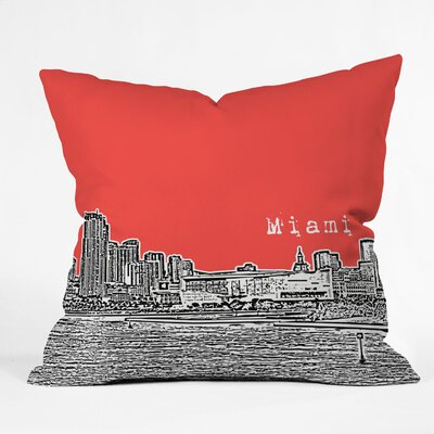 DENY Designs Bird Ave Miami Indoor/Outdoor Polyester Throw Pillow