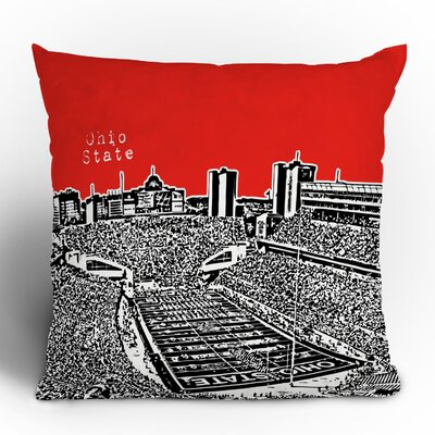 DENY Designs Bird Ave Ohio State Buckeyes Woven Polyester Throw Pillow