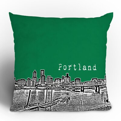 DENY Designs Bird Ave Portland Woven Polyester Throw Pillow