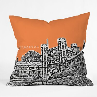 DENY Designs Bird Ave Princeton University Woven Polyester Throw Pillow