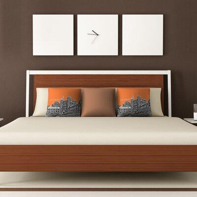 DENY Designs Bird Ave Princeton University Woven Polyester Throw Pillow